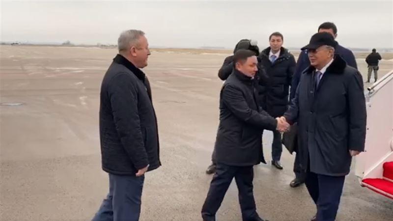 Глава государства прилетел в Кокшетау