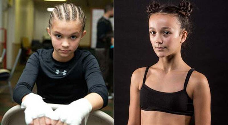 12 жастағы қыздар MMA жарысында төбелесті