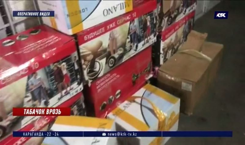 Больше 1000 сигаретных блоков изъяли на «Хоргосе»