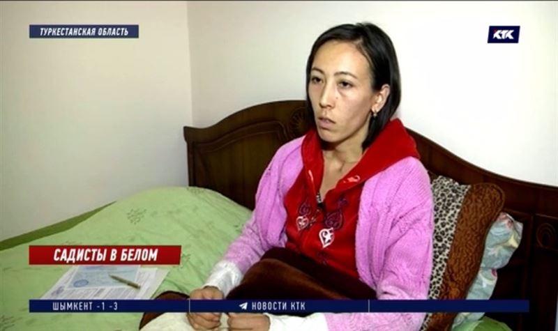 «Держали меня, чтобы не двигалась»: жительница Туркестанской области хочет засудить медиков