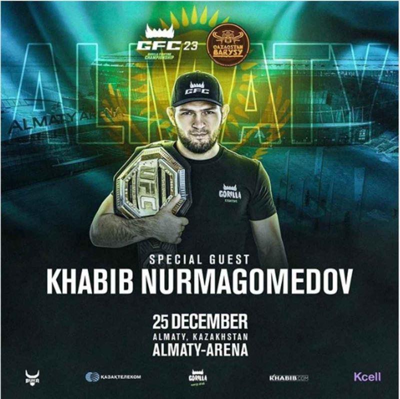 Хабиб Нурмагомедов Алматыға келеді