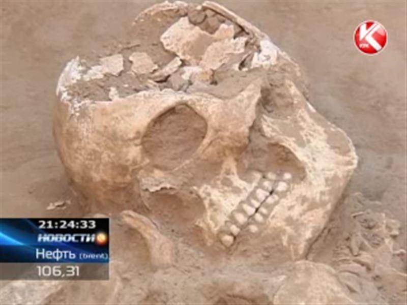Могилу трёх воинов обнаружили археологи в Южном Казахстане
