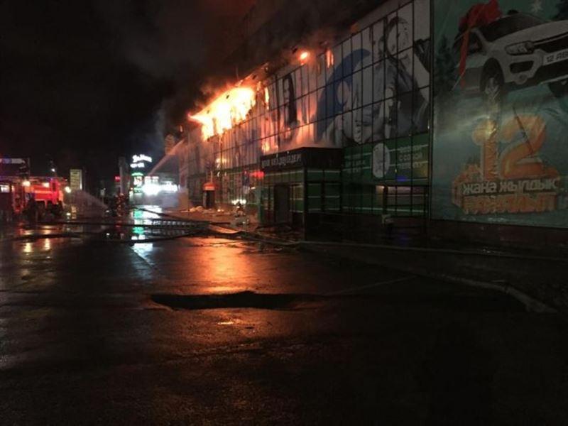 Пожар произошел в супермаркете Тараза