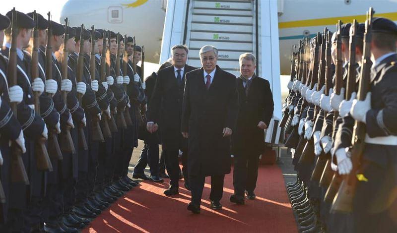 Президент Казахстана прилетел в Берлин