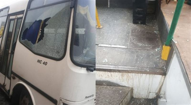 Талдықорғанда ер адам жолаушылар автобусына балтамен шабуыл жасаған