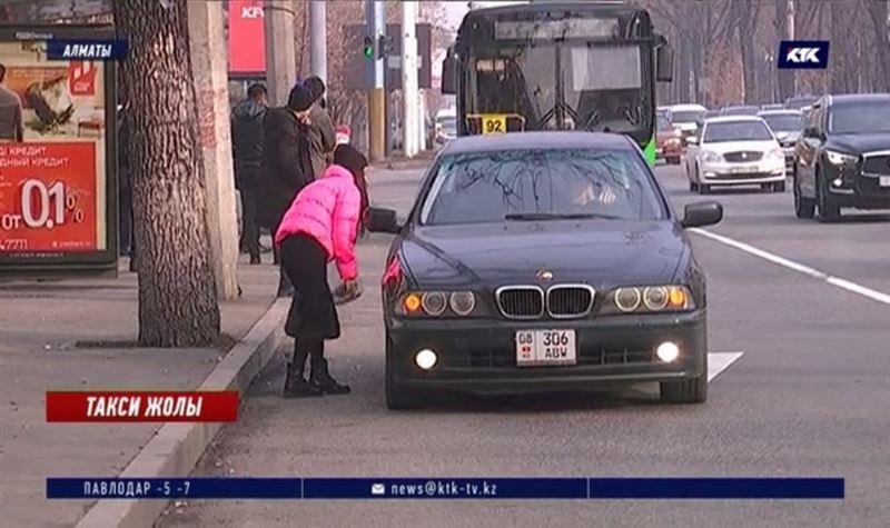 Алматыда такси қызметінің көлеңкелі бизнесімен күрес басталды