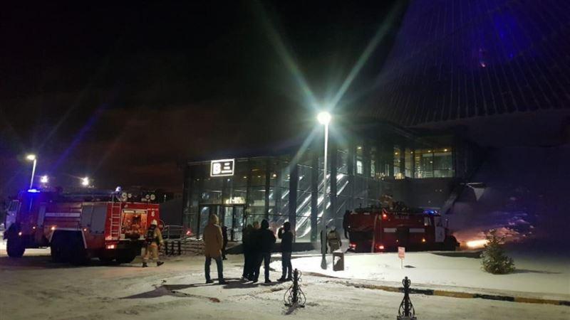 В столичном ТРЦ произошел пожар