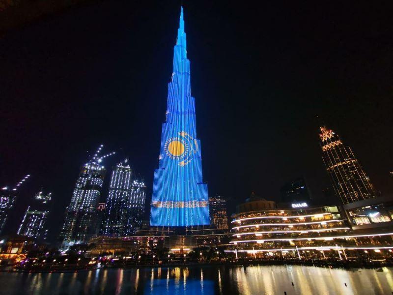 Дубай Қазақстанды Тәуелсіздік күнімен ерекше құттықтады