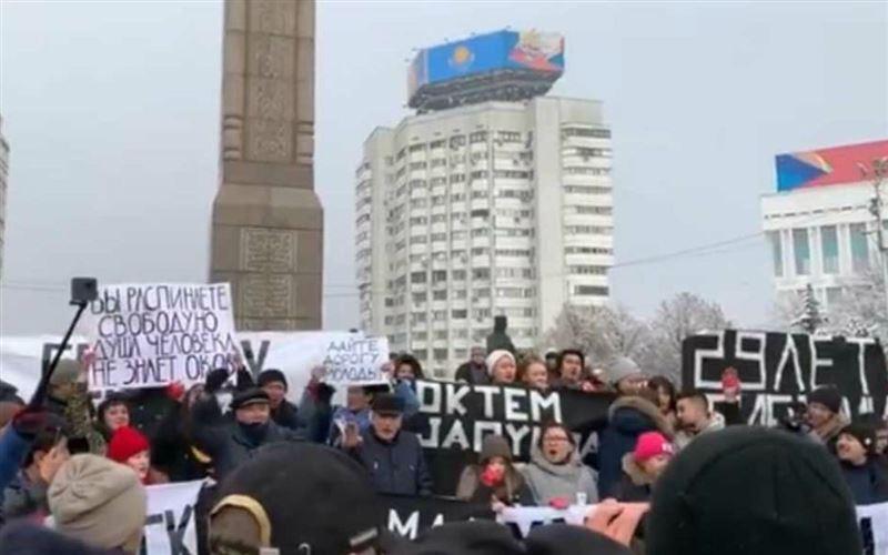 Тәуелсіздік күнгі митинг: 55 адамды ұстап әкетті