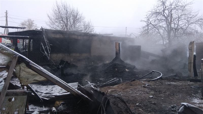 Дети едва не стали жертвами пожара в СКО