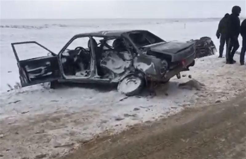 Столкновение 11 машин произошло на трассе в Актюбинской области