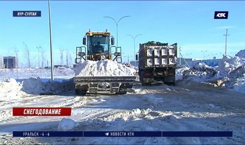 Снег в Нур-Султане мешает жителям и космическим технологиям