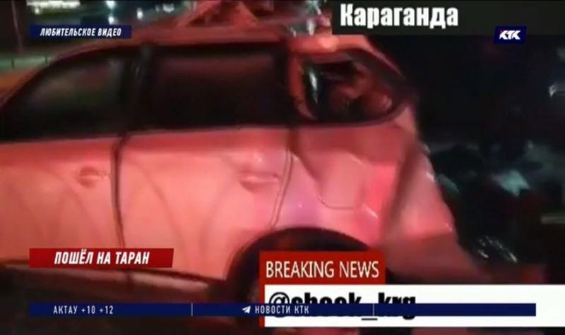 Карагандинец протаранил 6 машин на парковке