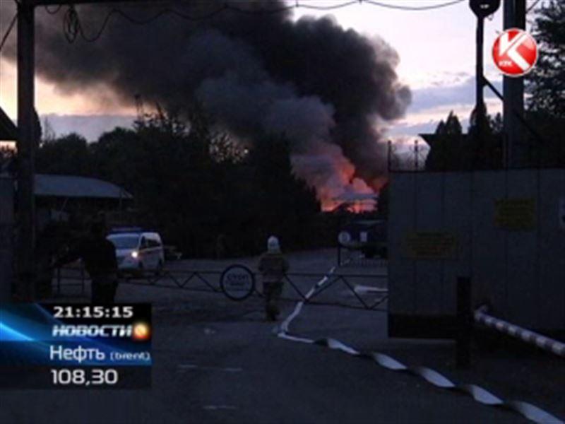 Крупный пожар на окраине Алматы