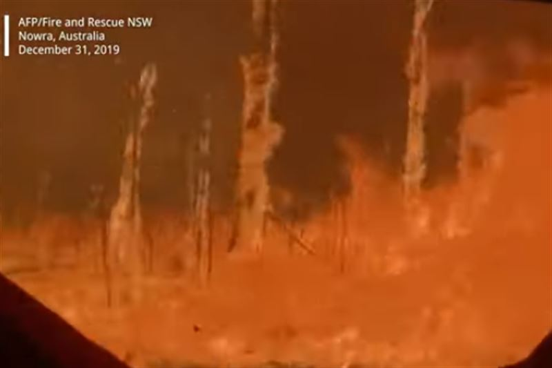 В Новый год в Австралии произошел пожар