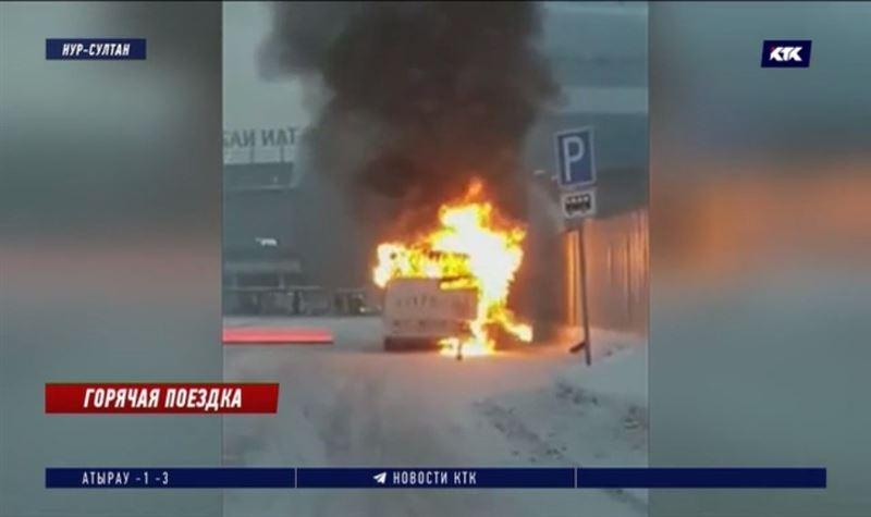 Конечная остановка стала последней для загоревшегося автобуса в столице