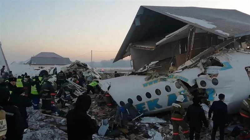 Названа основная версия причины крушения самолета близ Алматы