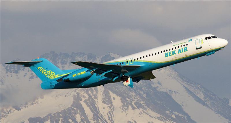 Самолеты Fokker-100, принадлежащие компании Bek Air, ожидает проверка