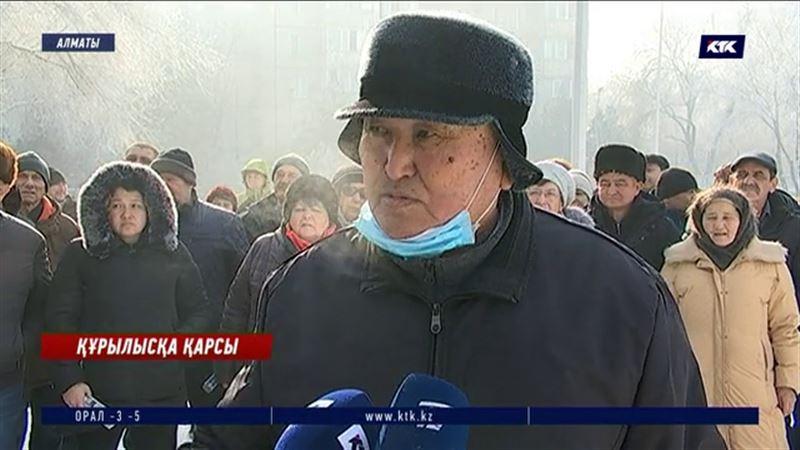 Алматыда  Тастақ-1 тұрғындары жатақхана құрылысына қарсы