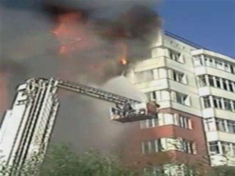 В Астане вновь горит элитное жильё