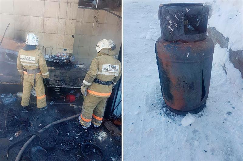 Теміртауда газ баллоны жарылып, 5 адам күйіп қалды