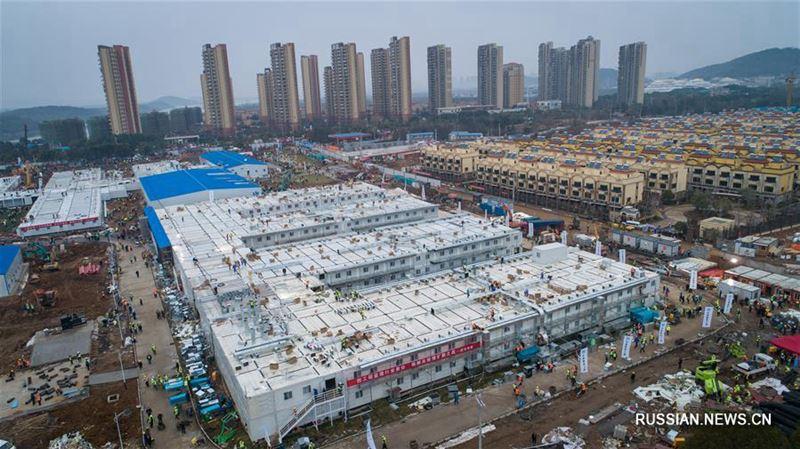 В Китае всего за 10 дней построили больницу для зараженных коронавирусом