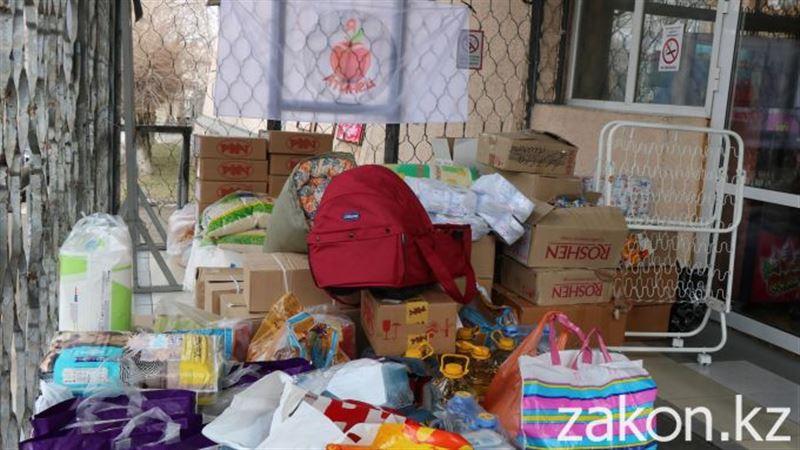 Жители Алматы отправили гуманитарную помощь в Кордайский район