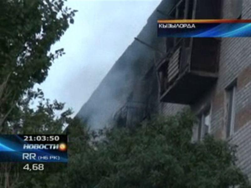 Крупный пожар в Кызылорде