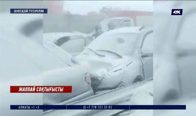 Қарағанды - Нұр-Сұлтан тас жолында бірден 8 көлік соқтығысты