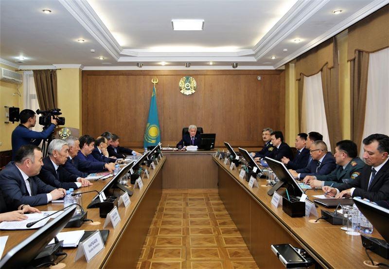 Аким Жамбылской области Бердыбек Сапарбаев дал первые поручения в новой должности