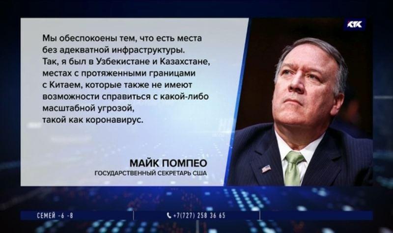 Госсек США боится, что Казахстан не справится с коронавирусом
