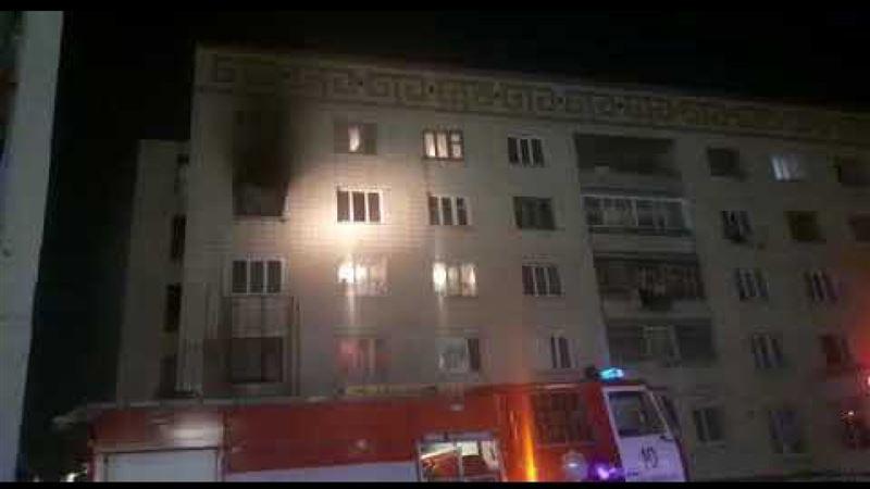 Житель Кокшетау поджег квартиру и выпрыгнул из окна после ссоры с супругой