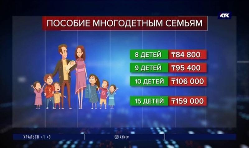 За 15 детей государство даст 159 тысяч