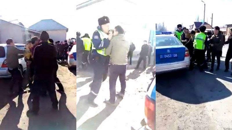 Қордайда полицейлерге шабуыл жасаған ағайынды 3 жігіт қамалды