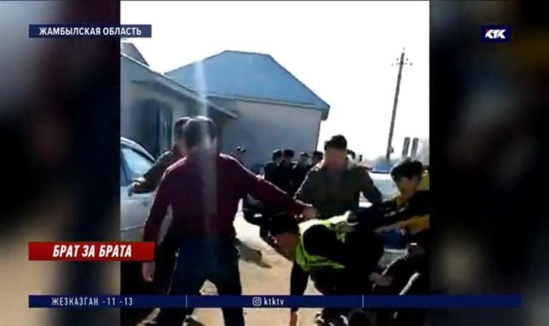 Трое братьев из кордайского села арестованы за нападение на полицейских