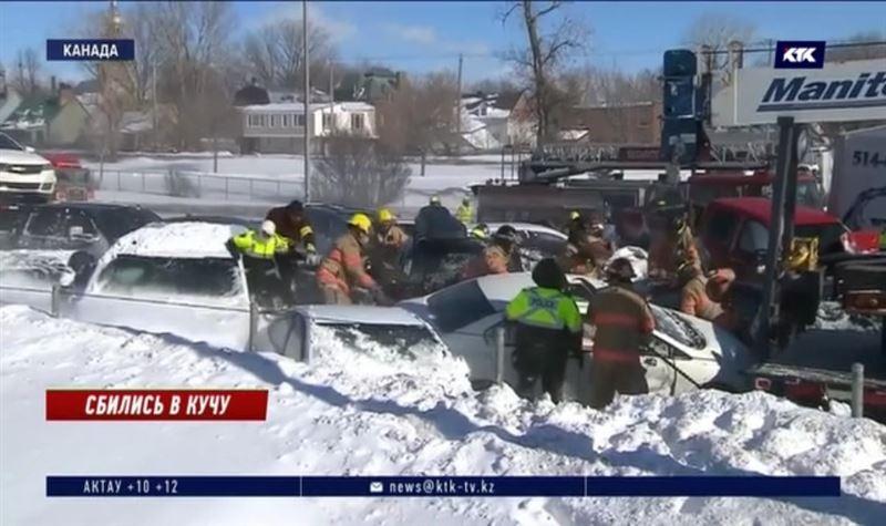 200 автомобилей столкнулись из-за метели
