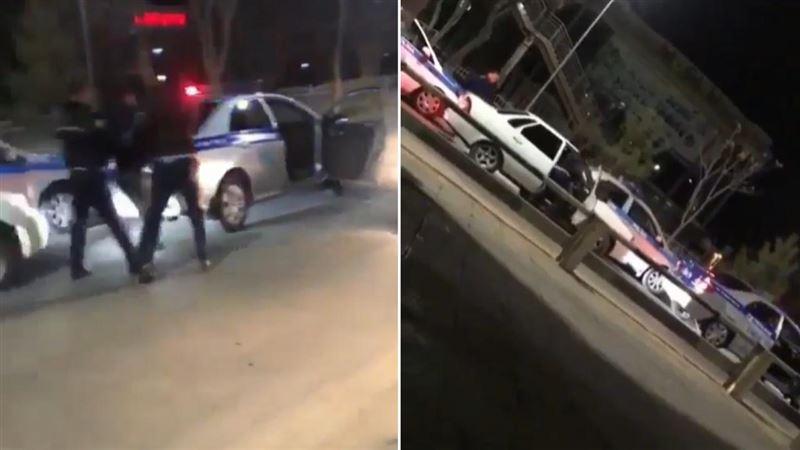 На водителя, оказавшего сопротивление полицейским в Шымкенте, составлено 5 протоколов