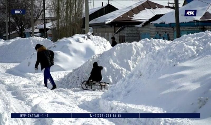 Обильные снегопады обернутся для казахстанцев большой водой