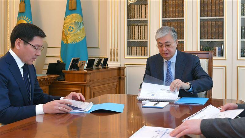 Тоқаев министр Асқар Жұмағалиевті қабылдады