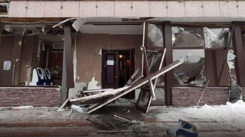 Взрыв банкомата произошел в Аксу