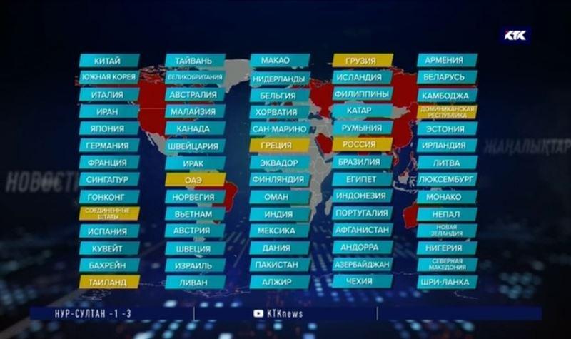 Аэропорт Алматы составил свой список стран, куда не стоит ездить