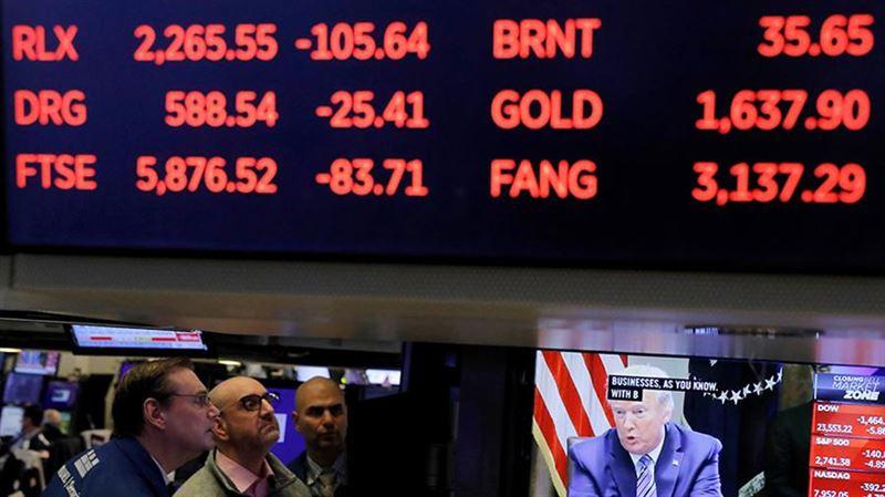 Американская биржа закрылась с рекордным падением за последние 30 лет