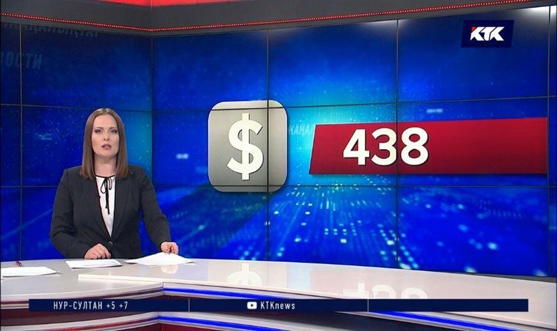 Доллар в понедельник остановился на 438 тенге