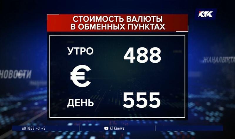 Доллар в обменниках за день подорожал на 35 тенге, евро – почти на 70