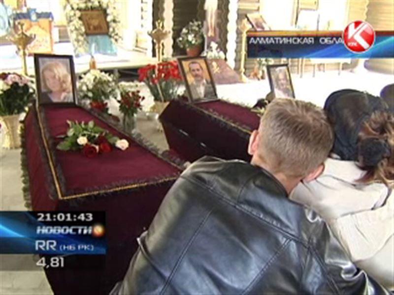 В Алматинской области прощались с пятью жертвами аксайской резни