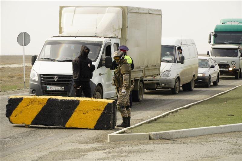 Со 2 апреля пересекать блокпосты в Атырау сможет только автотранспорт, имеющий разрешение