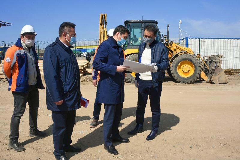 В Алматы началось строительство инфекционного госпиталя