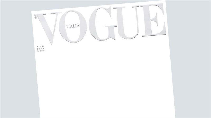 Журнал Vogue выпустили с пустой обложкой из-за пандемии коронавируса