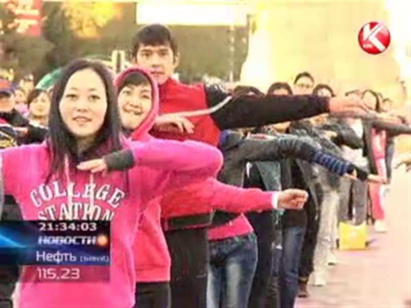 В Алматы прошла самая массовая в стране физзарядка