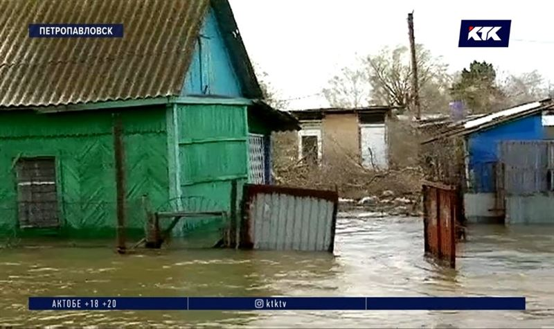 Вторая волна паводка наступает на Петропавловск
